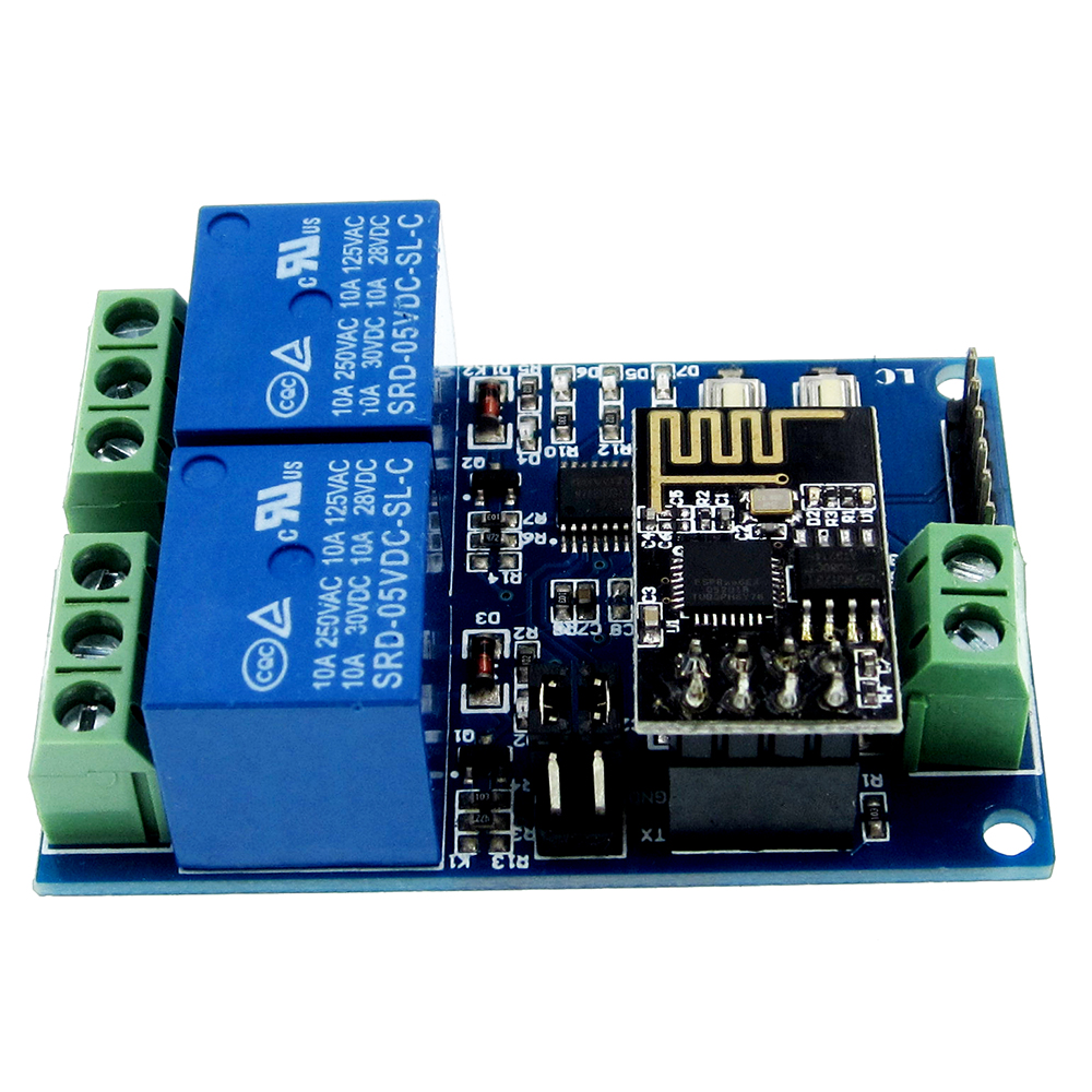 5V ESP8266 ESP-01 2 Channel WiFi Relay Module 2 Channel Relay Module For IOT Smart Home