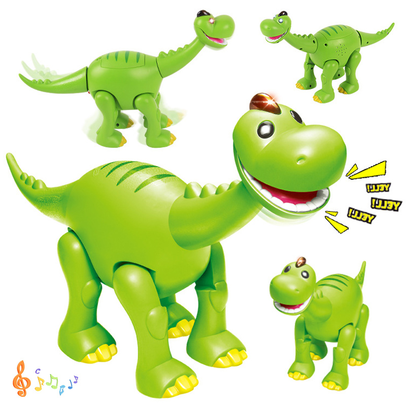 2018 New Electronic Flashing Jurassic Dinosaur Cool Animals Toys Sounding Flashing Lovely Electronic Toys For Birthday Gift