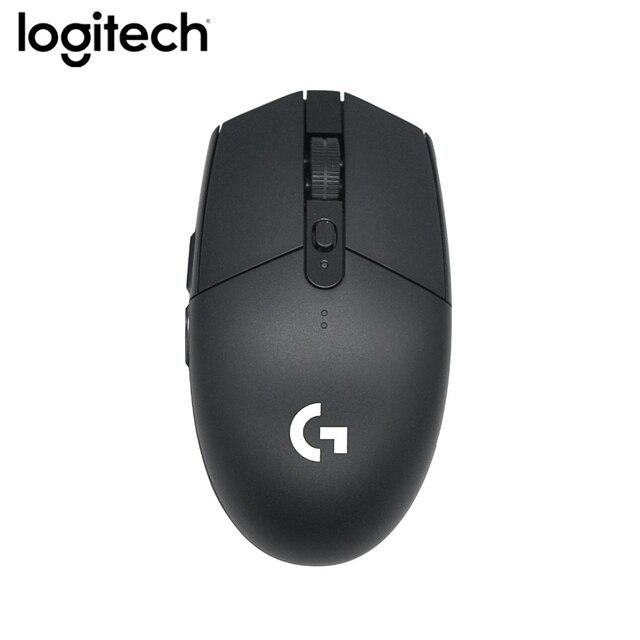 Souris de jeu dorigine Logitech G304 2.4G sans fil HERO Engine 5AA batterie 12000DPI pour LOL PUBG Fortnite Overwatch CSGO