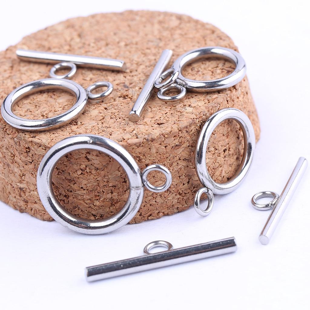 10 комплектов, застежки для браслетов из нержавеющей стали