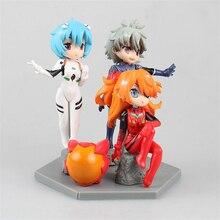 Haocaitoy Figure Toys GCS nendoroid Q Version EVA Neon Genesis Evangelion PVC Model Anine Action Figures Cute For Collecting 9cm недорого