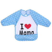 2017 New Brand Cute Baby Toddler Waterproof Long Sleeve Bibs Children Kids Feeding Smock Apron Baby Girls Boys Bibs
