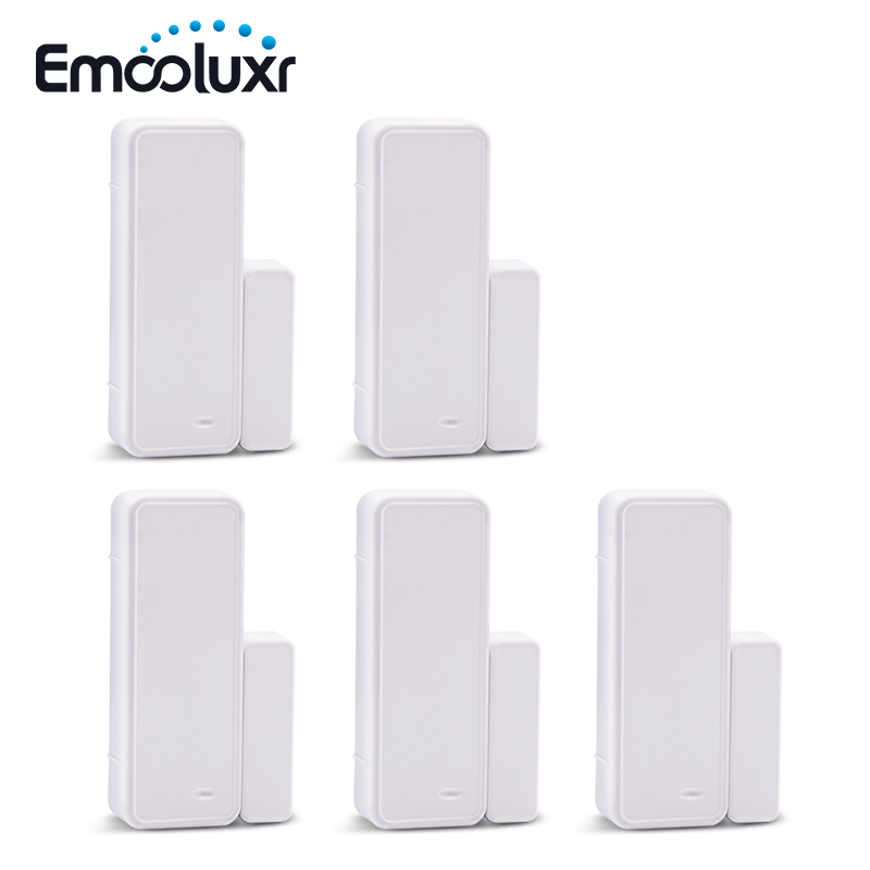 5pc 433MHz EV1527 two-way wireless intelligent door/window sensor, APP control wifi door detector for alarma casa G90B plus G90E(China)