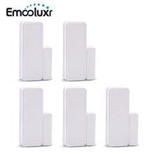 5pc 433MHz EV1527 דו כיוונית אלחוטי אינטליגנטי דלת/חלון חיישן, APP בקרת wifi דלת גלאי עבור alarma casa G90B בתוספת G90E