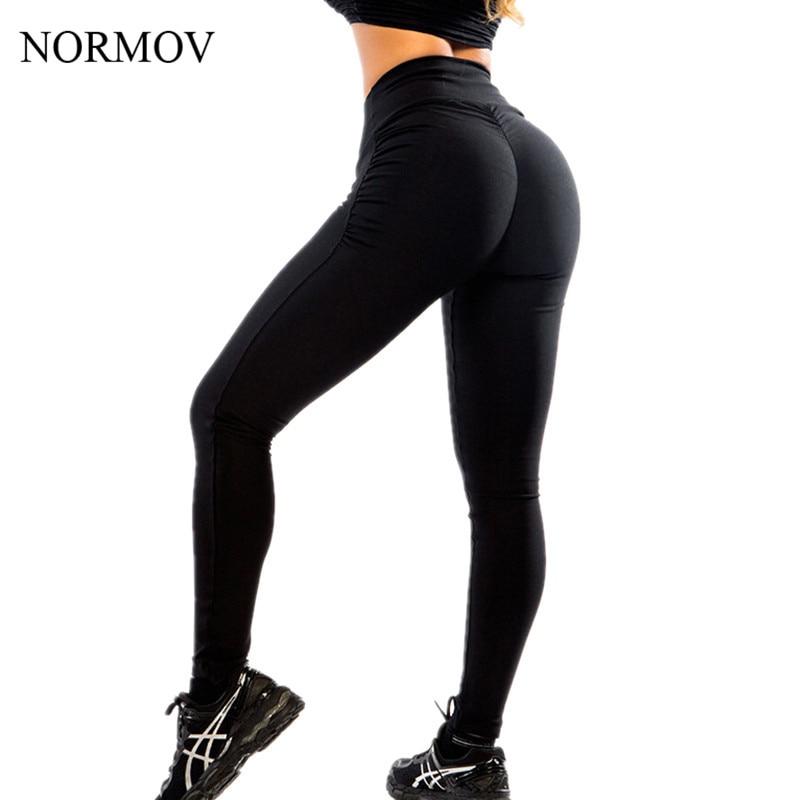c73e9c8258d62 NORMOV XS L Adventure Time Push Up Leggings Women Workout Activewear Black  Legging Stretch Slim Polyester Seamless Legging -in Leggings from Women's  ...