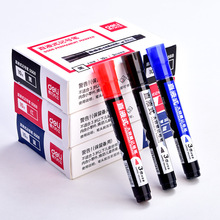 10Pcs/lot Wholesale Larger Capacity Marker Pen Deli Oily Waterproof Graffiti CD Paper Fabric Logistic Markers Brush Stationery