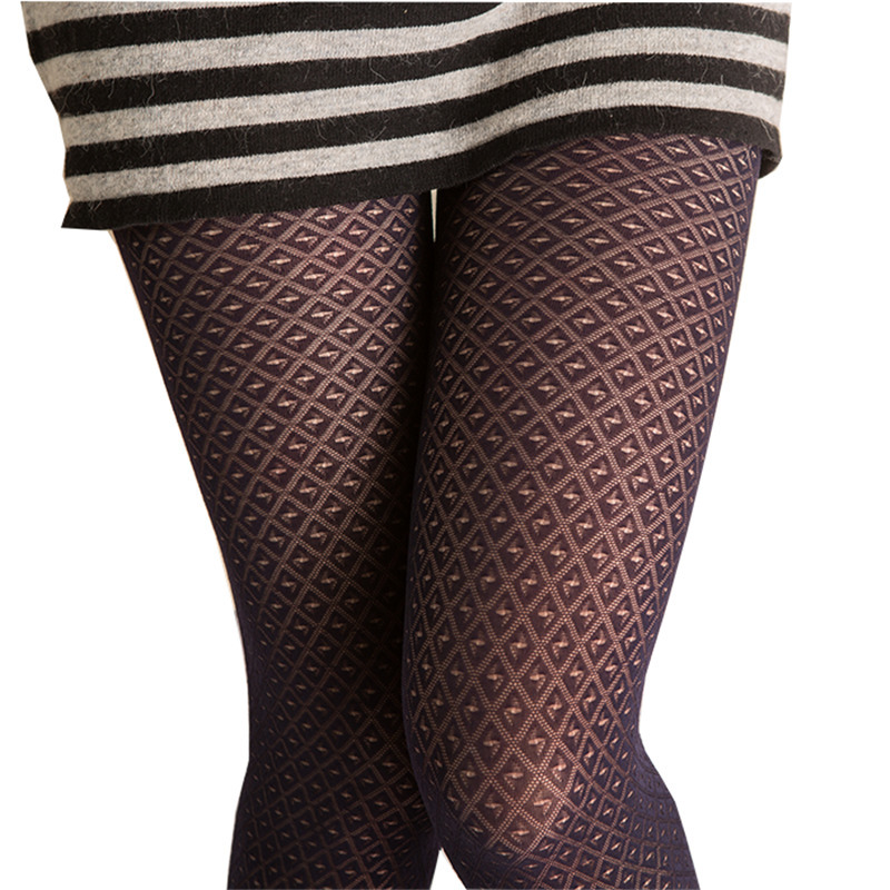 Women Tights Sexy Stockings Female Pantyhose Nylon Fishnet Collant Femme Plus Size Calcetines Mujer Black Plaid Rajstopy SW130