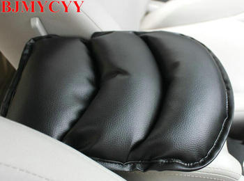 BJMYCYY Car Armrests Cover Pad Vehicle Center Console Arm Rest Seat Pad For Ford Focus 2 3 Peugeot 206 207 307 308 407 408 508 image