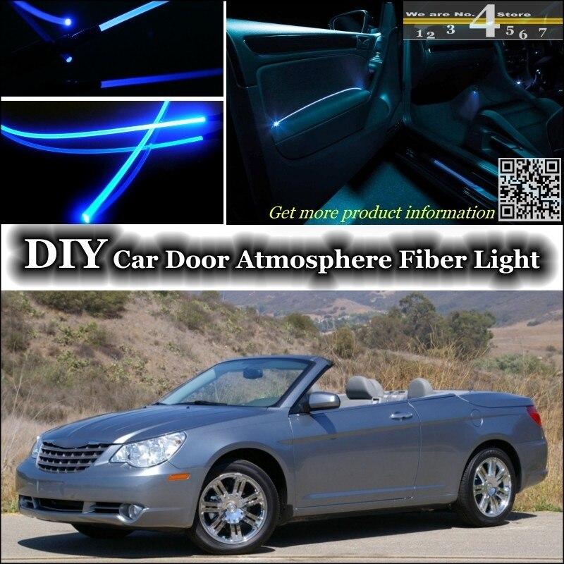 For Chrysler Sebring interior Ambient Light Tuning Atmosphere Fiber Optic Band Lights Door Panel illumination (Not EL light)