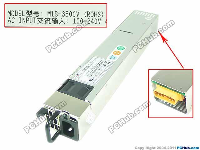 Emacro EMACS M1S 3500V Server Power Supply 500W 1U PSU For Sever / Computer
