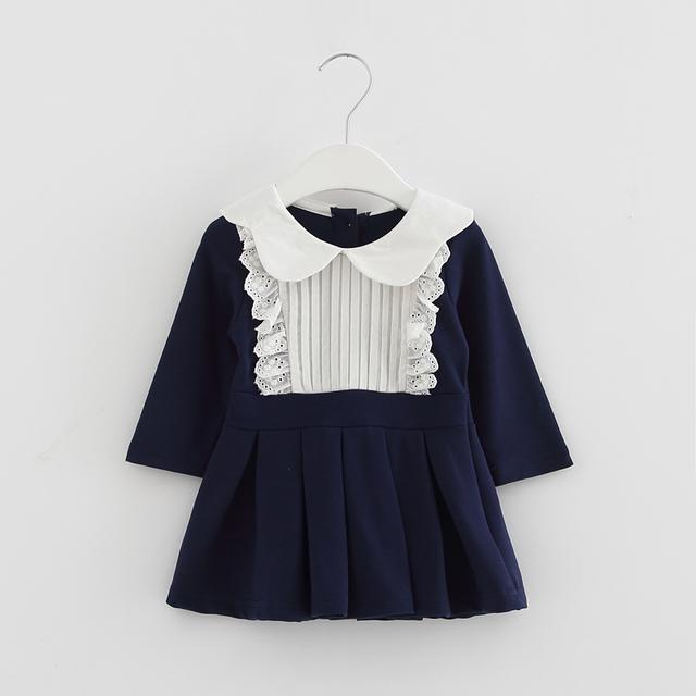 2017 roupa nova primavera bebê infantil festa de aniversário da princesa do bebê vestidos de meninas recém-nascidas meninas roupas crianças baby dress 0-2 t