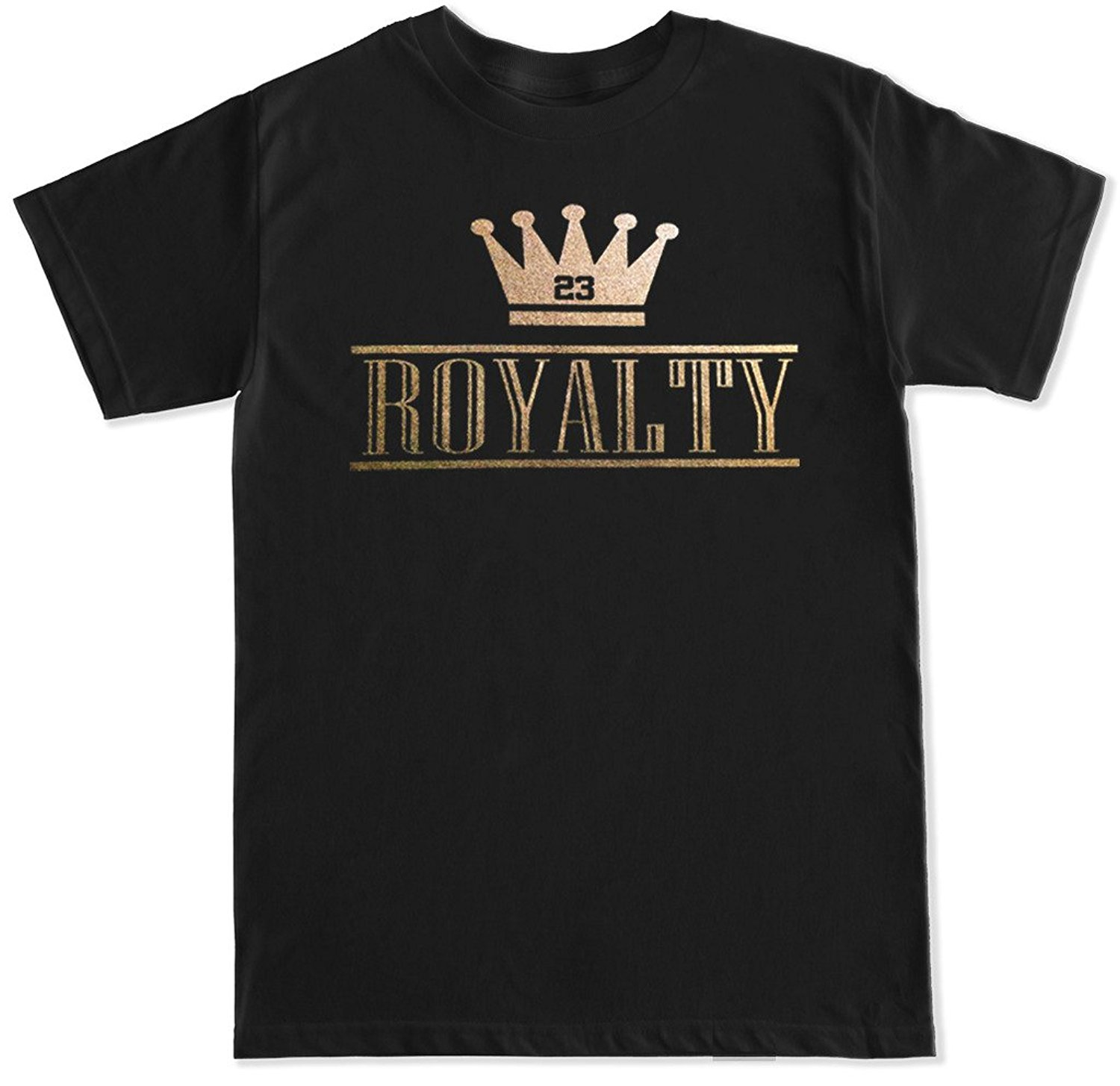 T Shits Printing Short Sleeve Casual O-neck Cotton Men's Royalty Crown Retro 4 Metallic Gold T Shirt
