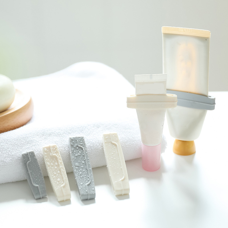 Cosmetics Cleanser Extruder 3Pcs Manual Plastic Bathroom Accessories Toothpaste Clip Tooth Paste Tube Dispenser