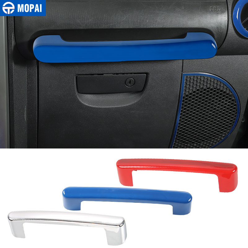 MOPAI ABS Car Interior Door Copilot Handle Decoration Cover Plate Trim Stickers for Jeep Wrangler JK 2007-2010 Car Styling цена