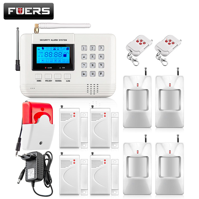 Hot Selling Free Shipping wholesale Wireless PSTN GSM Alarm System 433MHz Home Burglar Security Alarm System free shipping hot selling 433mhz wireless water detector for home burglar alarm system