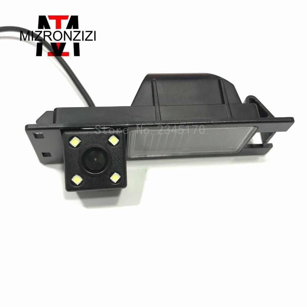 MIZRONZIZ CCD Vision nocturne 4LED caméra de recul pour voiture pour Opel Astra H J Corsa Meriva Vectra Zafira Insignia pour FIAT Grande