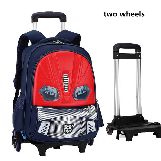 f71a06a0ed84 2 Wheels Removable Kids Trolley Backpack Wheeled Bags Children School Bag  Boys Travel Bags Children's School Backpacks mochilas-in School Bags from  ...