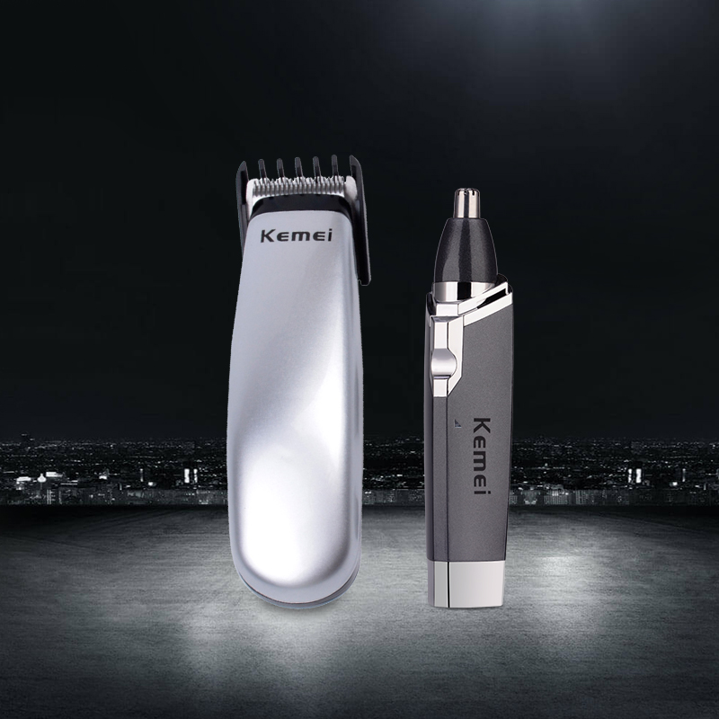 Mini Battery Operated Hair Clipper Hair Trimmer Shaver+Electric Ear Nose Trimmer For Men Nose Hair Removal Nose Ear Hair Trimer ckeyin 2in1 wet dry epilator women shaver depiladora mini hair removal electric nose ear trimmer bikini underarm painless shaver
