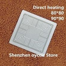 ความร้อนโดยตรง 80*80 90*90 SR3S0 N4100 SR3S1 N4000 SR3S3 J5005 SR3S4 J4105 SR3S5 J4005 SR3RZ N5000 BGA Stencil แม่แบบ