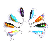 цена 8pcs 40mm 4g Topwater fishing popper floating lure baits, fishing insect bait lure tackle ,hard plastic insect cicada lure baits онлайн в 2017 году