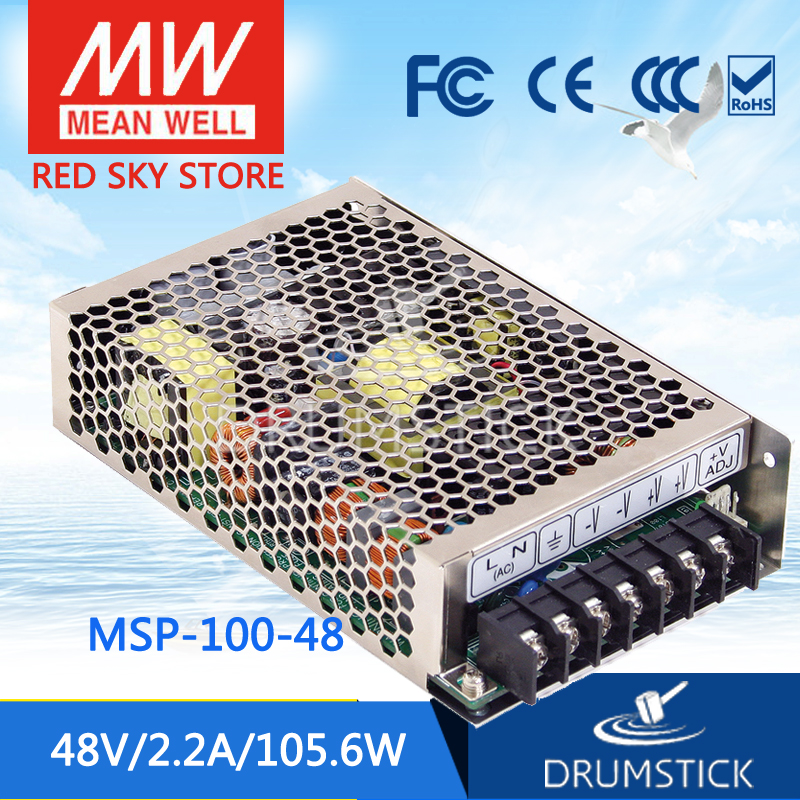 MEAN WELL MSP-100-48 48V 2.2A meanwell MSP-100 48V 105.6W Single Output Medical Type Power Supply [powernex] mean well original msp 200 48 48v 4 3a meanwell msp 200 48v 206 4w single output medical switching power supply