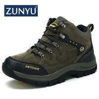 ZUNYU New Men Boots Autumn Winter Mens Warm Plush Snow Boots Man Casual Fashion Shoes Outdoor Mountain Men Sneakers Size 39 48