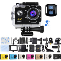 4K Wifi Waterproof Action Camera Bicycle Cam 4K Sport Camera Ultra Diving 1080P 60FPS Camera Helmet Camera Waterproof Sports DV