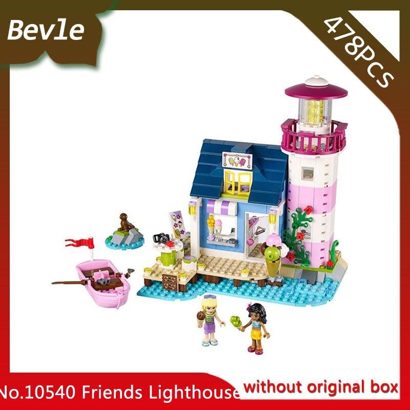 Bevle Store Bela 10540 478Pcs Friends Series Heart Lake City Lighthouse Building Blocks Bricks For Children