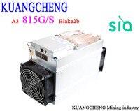 KuangCheng добыча BITMAIN Antminer A3 815 г/локон Blake2b хэш Asic Siacoin Шахтер (без БП) отправить DHL Быстрая доставка