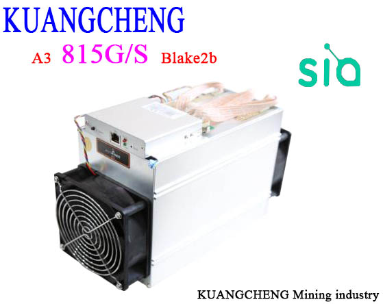 KuangCheng Mining BITMAIN Antminer A3 815G/s Blake2b Hash  Asic Siacoin Miner (no Psu) Send DHL  Fast Delivery