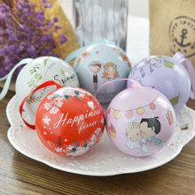 New European Wedding Birthdday Party Candy Bag Spherical Wedding Tin Candy Box Creative Wedding Gift Box drop shipping(China)
