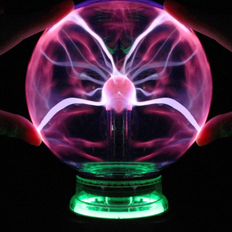 Novelty 3 4 5 6 Inch Magic Plasma Ball Glass Christmas Balls Decorative Lava Lamp For Kid Lights Touch Sensor Sphere Night Light