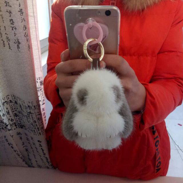 Mink cabelo acessórios jóias pingente de coelho de pelúcia pele de coelho pequeno Coelho morto Pelúcia Meng