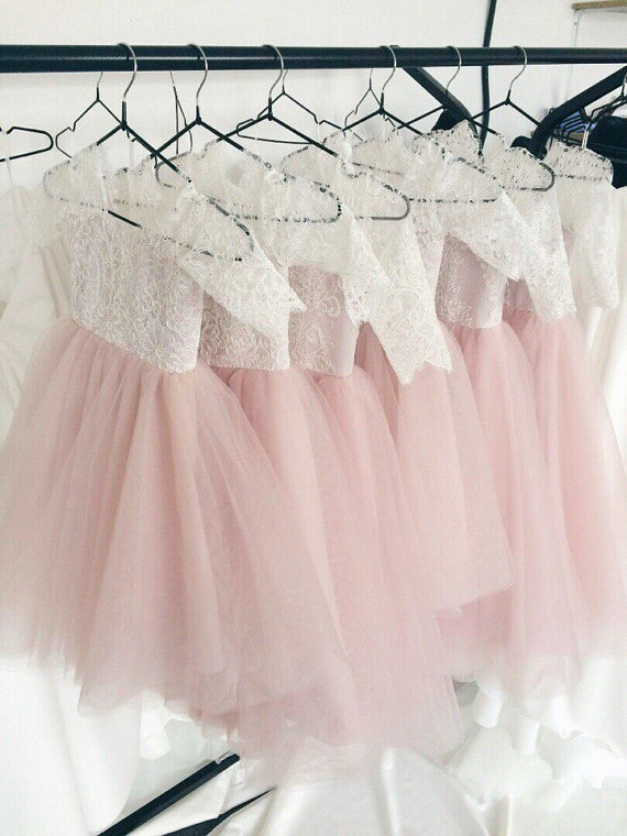 Blush Pink Tulle Puffy Baby Girls Birthday Dress 2017 Custom Made Infant Girls Dresses Any Size