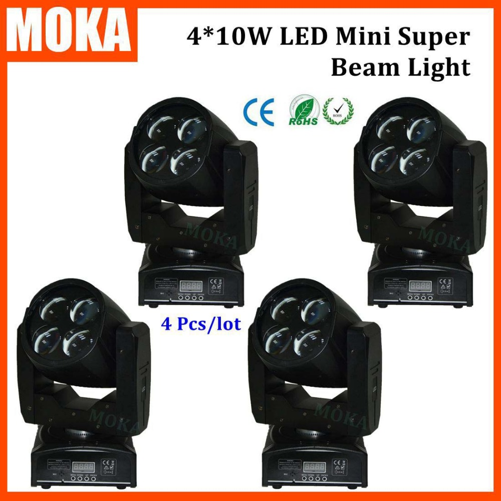 4PCS/LOT Made in China Led Beam Spot Mini Moving Head Light Rainbow Led Display Stage Pro Projector moving head light moving head lot moving head led stage - title=