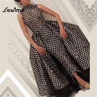 Black Arabic Evening Dress Two Pieces Style Glitter Party Dress 2018 Robe De Soiree Dress Elegant Mermaid Prom Dresses Abiye New