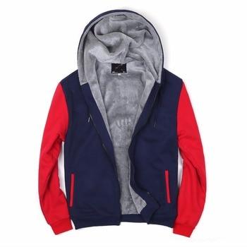 Dreamskull Mens Fleece Lined Pull Zip  Hoodie Coat Hooded Jacket Casual Winter Coats