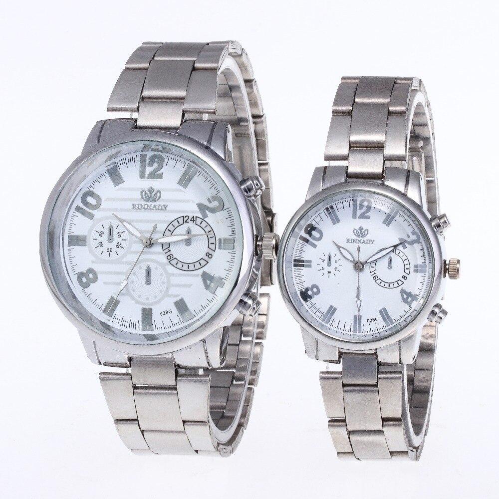 Horloges Mannen Men Women Watch Casual Sport Quartz Couple Watches Brand Luxury Stainless Steel Men's Women's Wrist Watch Clock