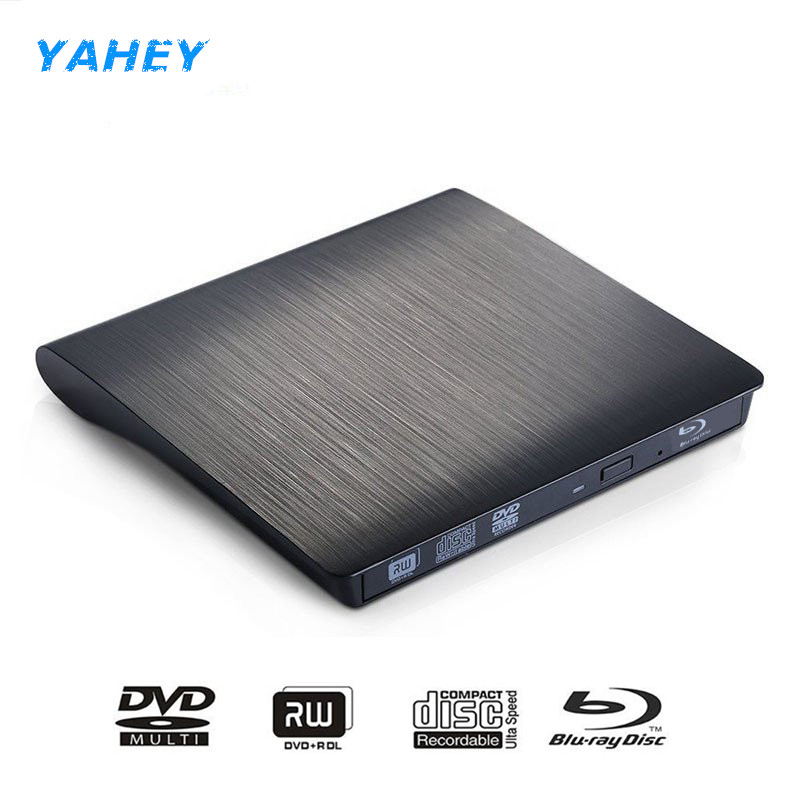 USB3.0 Bluray Drive External CD/DVD RW Burner BD-ROM Blu-ray Player Optical Drive Writer for Apple iMacbook Laptop Computer pc usb 2 0 bluray external cd dvd rom bd rom optical drive combo blu ray player burner writer recorder for laptop comput drive bag