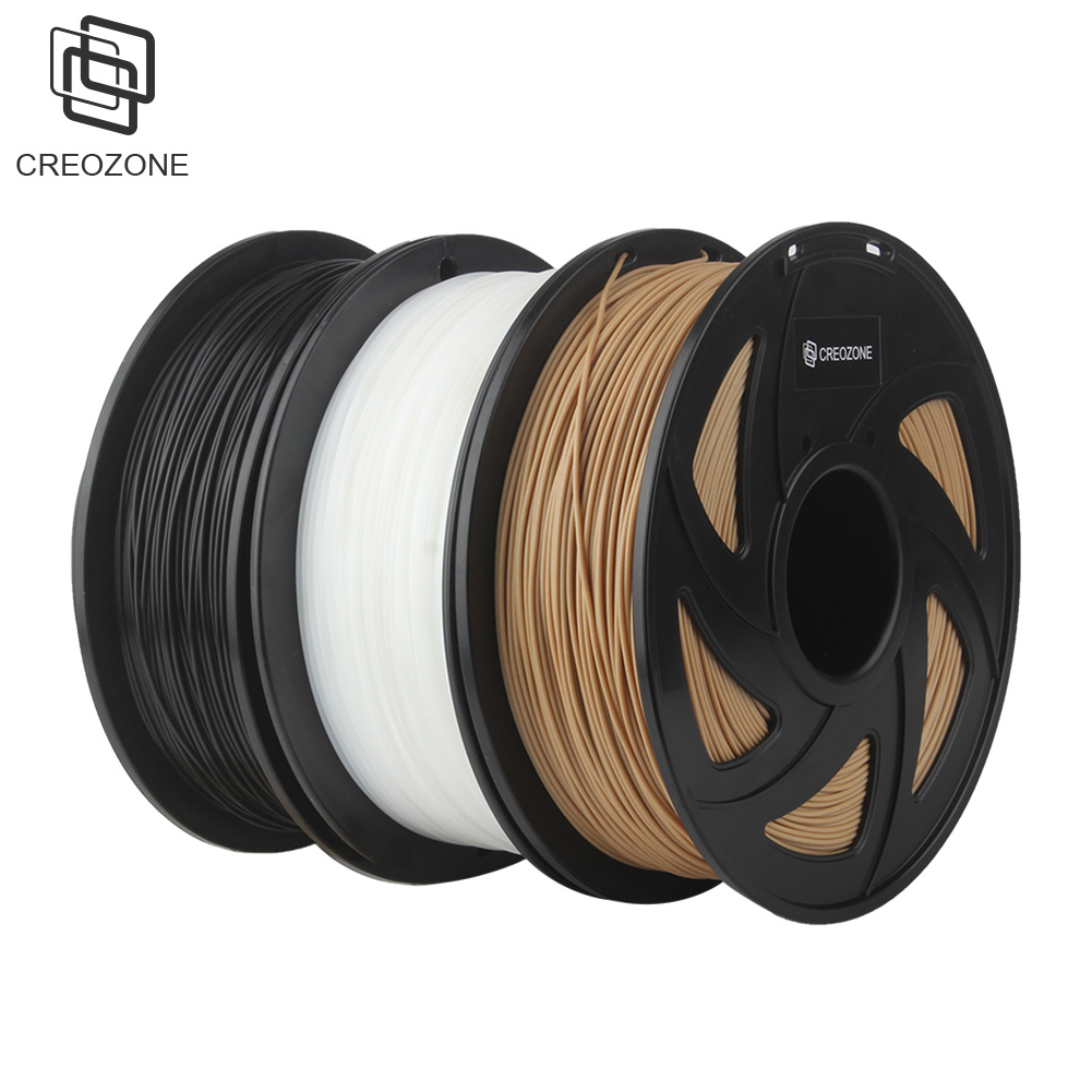 Pack of 3 CREOZONE Premium Plastic Filament for 3D Printer PLA ABS Wood PetG TPU