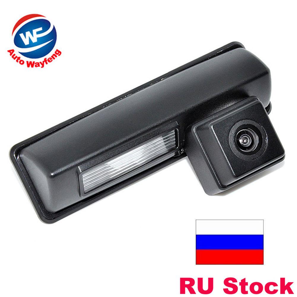 VW universale auto retrovisore inverso Camera CCD HD grandangolare di Rearview dellautomobile di sostegno della macchina fotografica Per il parcheggio Ford Focus
