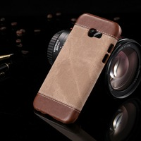 For Samsung Galaxy A5 2017 A3 2017 A3 2016 Cowboy Back PC Leather Case Texture Luxury