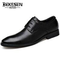 DEKESEN Guaranteed 100 Genuine Leather Men Shoes Business Formals Shoe For Man Dress Brogues Oxfords Shoes