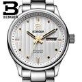 Швейцарские часы  мужские роскошные брендовые наручные часы Бингер  деловые автоматические самокручивающиеся сапфировые полностью B5006-8 из...