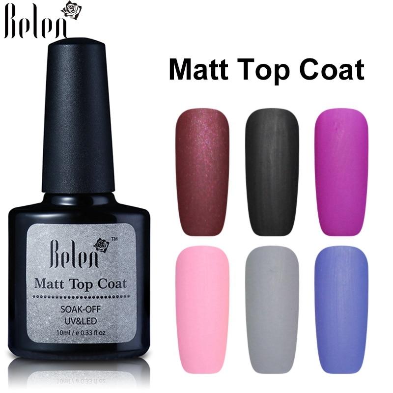 Belen 10ml Matt Top Matt Nail Polish Lacquer Matte Gel ...