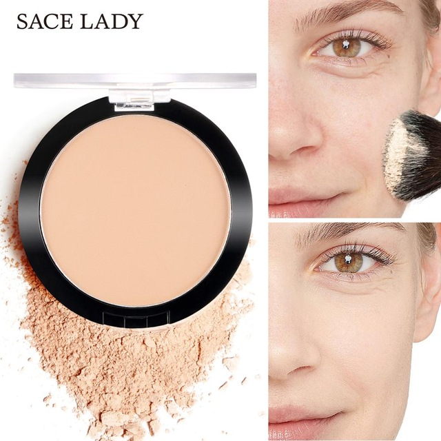 SACE LADY Face Soft Matte Compact Pressed Powder Translucent Natural Make Up Long Lasting Oil-control Mineralize Cosmetic TSLM1 image