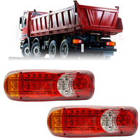 New Waterproof 12V/24V Truck LED Tail Light Rear Lamp Stop Reverse Safety Indicator Fog Lights for Trailer Truck Lorry