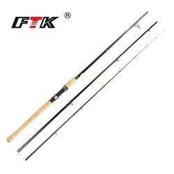 FTK 99% Canna Da Pesca In Carbonio Asta Feeder Con 3 Rod Consigli 3 Sezione C.W 60-160G 3.3 M 3.6 M 3.9 M Standard Baitcasting di Pesca Alla Carpa