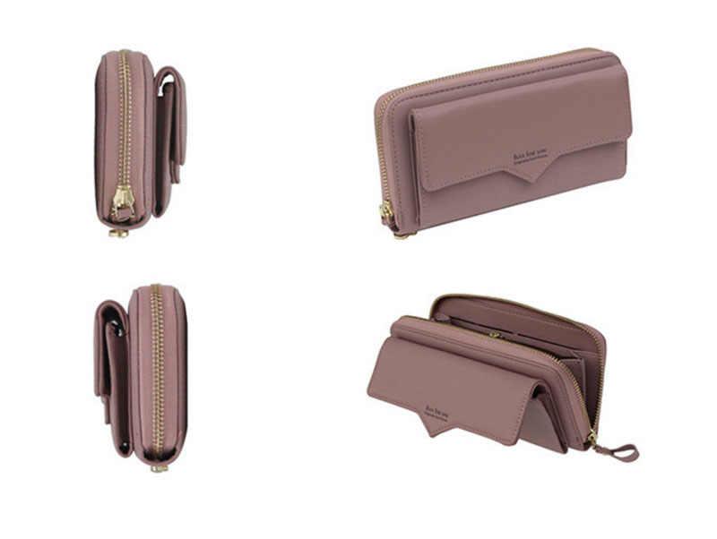 HANN INGRY moda wykwintne PU skórzane portfele kobiet i mężczyzn złoty portfele długie sprzęgła z portmonetka posiadacz karty kiesy H179D