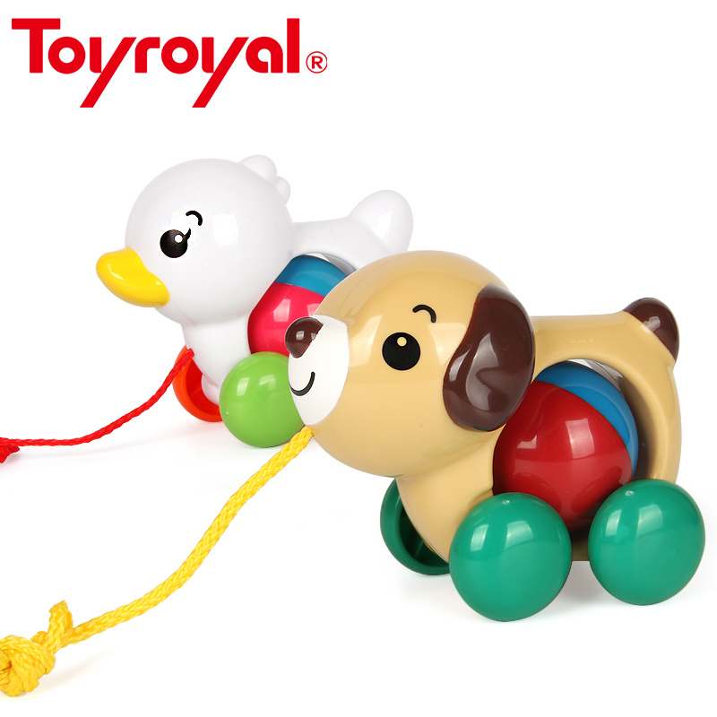 Toyroyal Puppy Duckling Baby Rattle Pull Along Classic